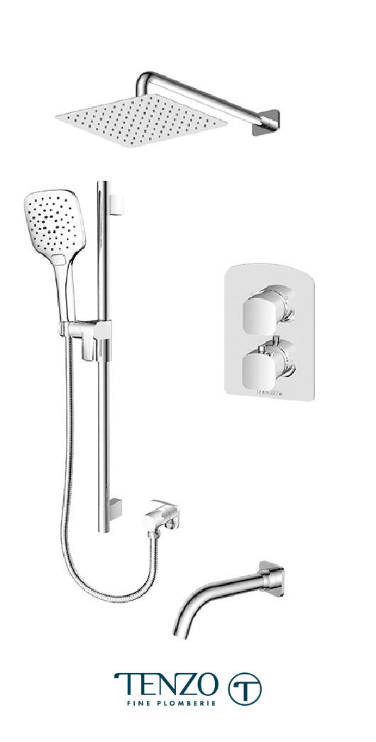 DET33-501115-CR - Shower kit, 3 functions