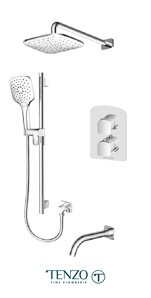 DET33-501145-CR - Shower kit, 3 functions
