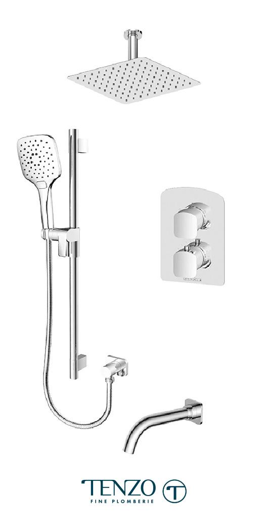 DET33-511315-CR - Shower kit, 3 functions