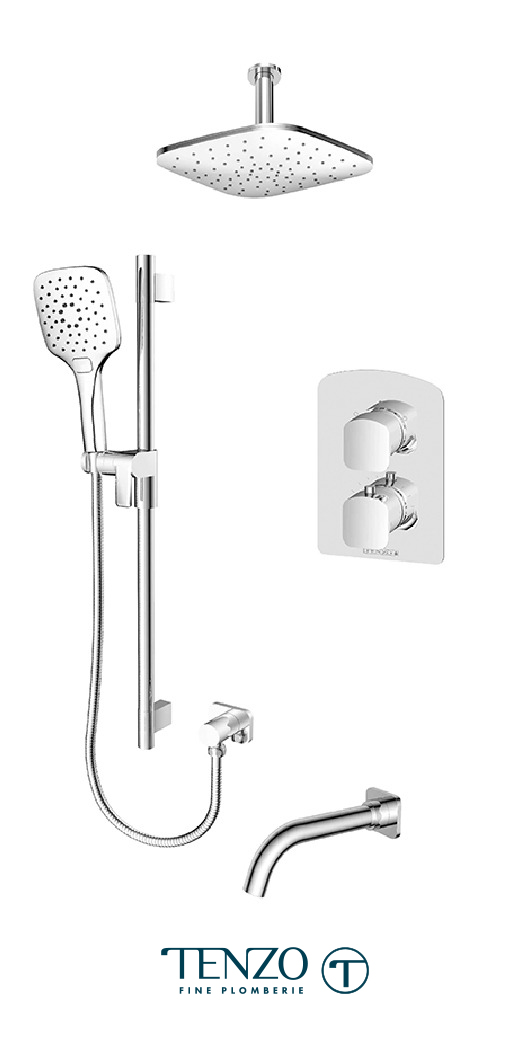 DET33-511345-CR - Shower kit, 3 functions