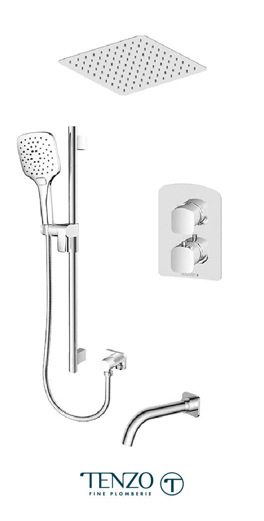 DET33-511645-CR - Shower kit, 3 functions