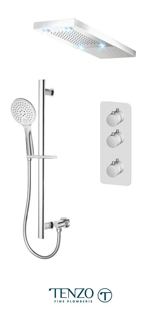 RUT42-21232-CR - Shower kit, 2 functions