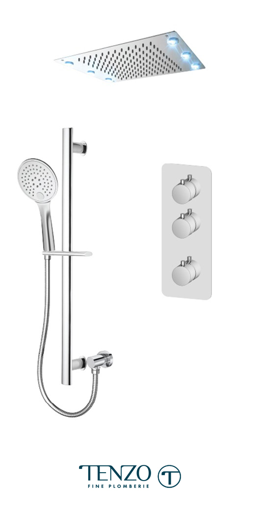 RUT42-21243-CR - Shower kit, 2 functions