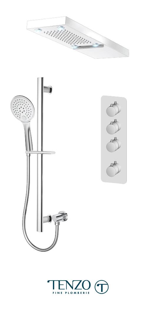 RUT43-54252-CR - Shower kit, 3 functions