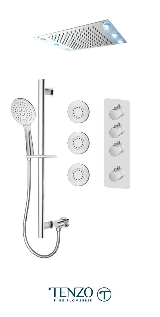 RUT43-592438-CR - Shower kit, 3 functions