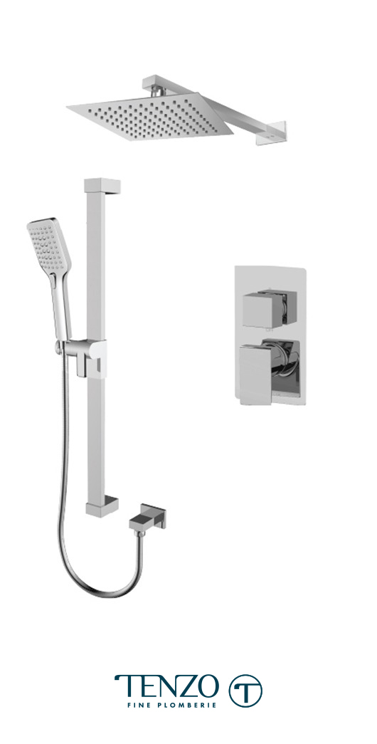 SLPB32-20110-CR - Ensemble de douche T-Box, 2 fonctions, Slik