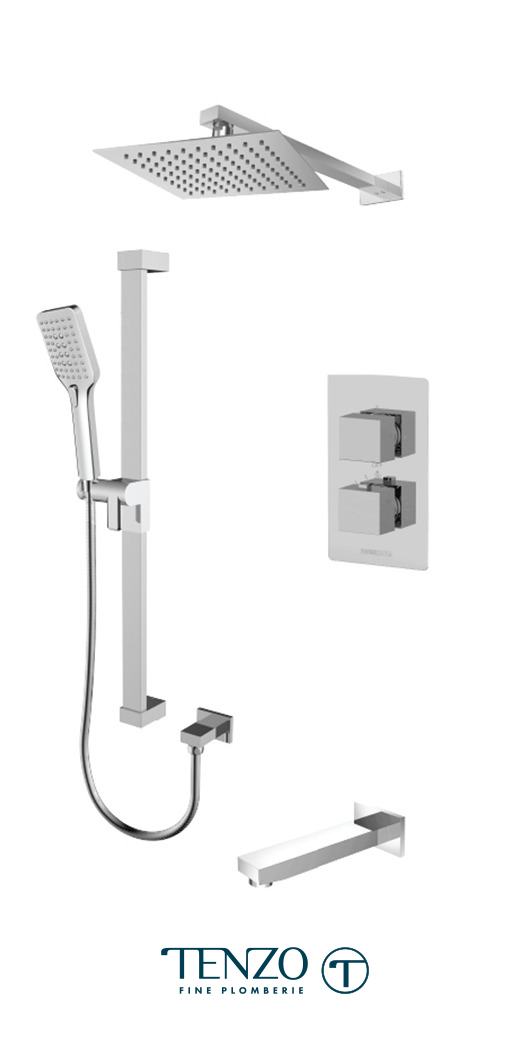SLT33-501105-CR - Ensemble de douche T-Box, 3 fonctions, Slik
