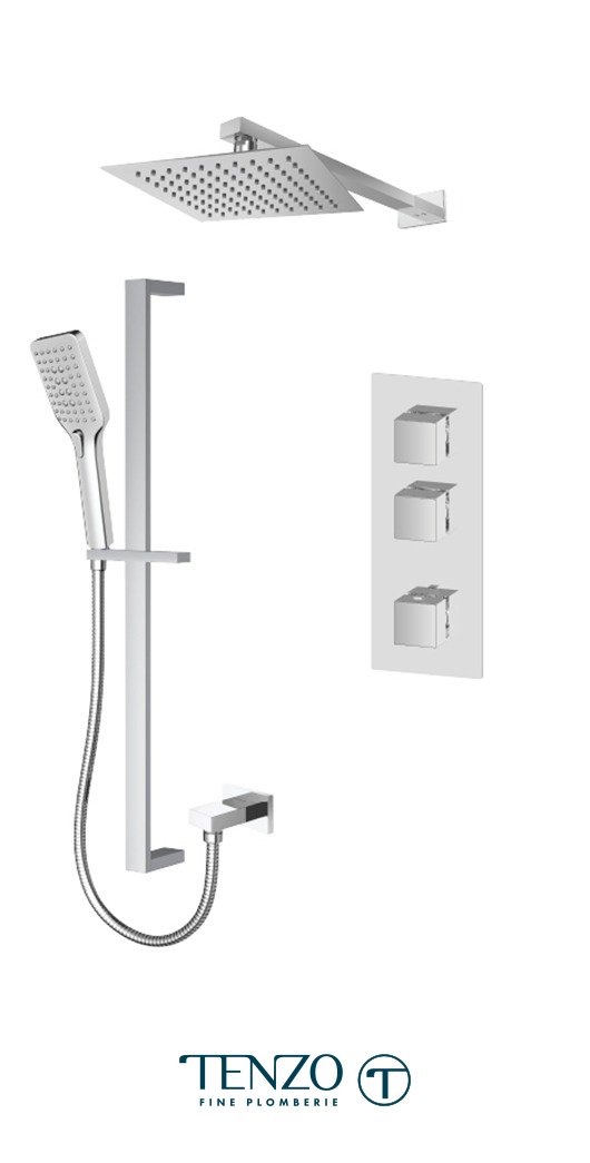 SLT42-20216-CR - Ensemble de douche T-Box, 2 fonctions, Slik