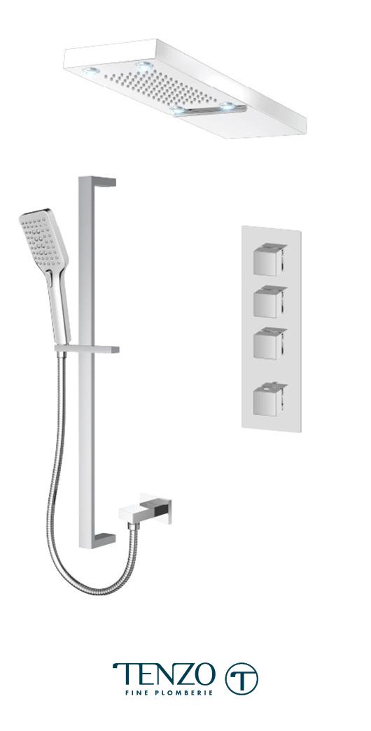 SLT43-54252-CR - Shower kit, 3 functions