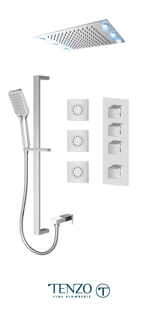 SLT43-592438-CR - Shower kit, 3 functions