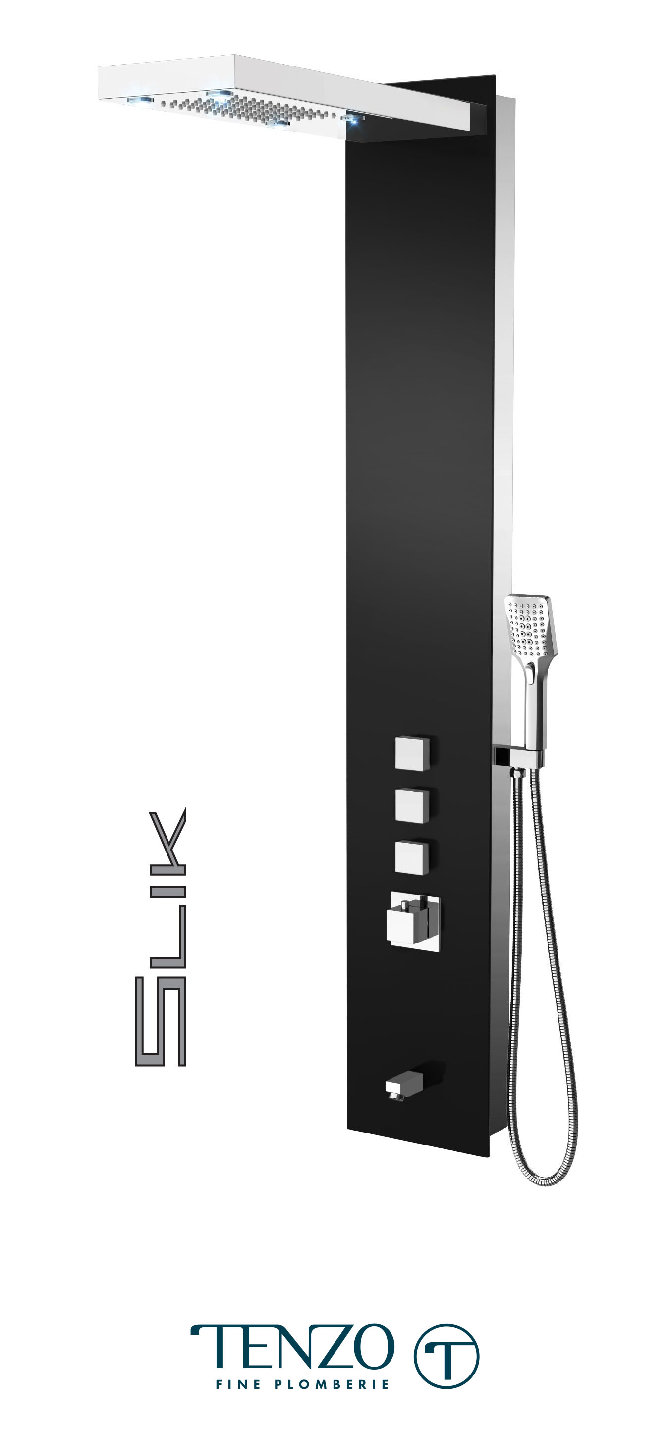 TZG11-XX-SL-3L - Shower columns - Tempered Glass, 3 functions