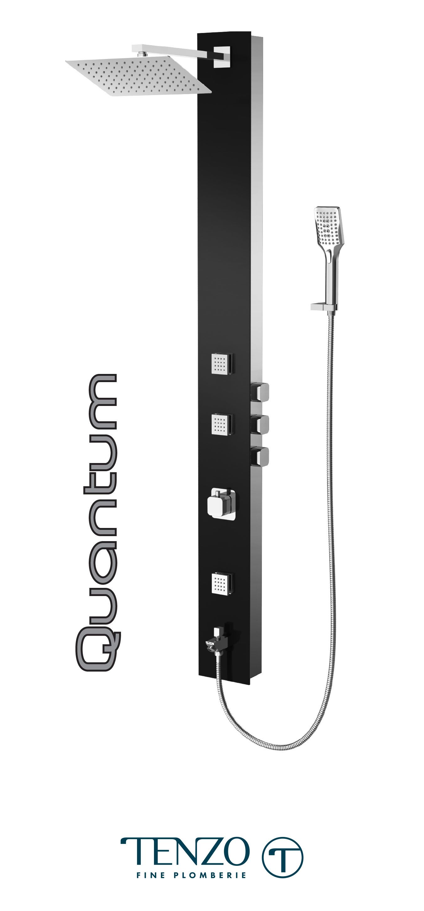 TZG2-XX-QU-SX - Shower columns - Tempered Glass, 3 functions