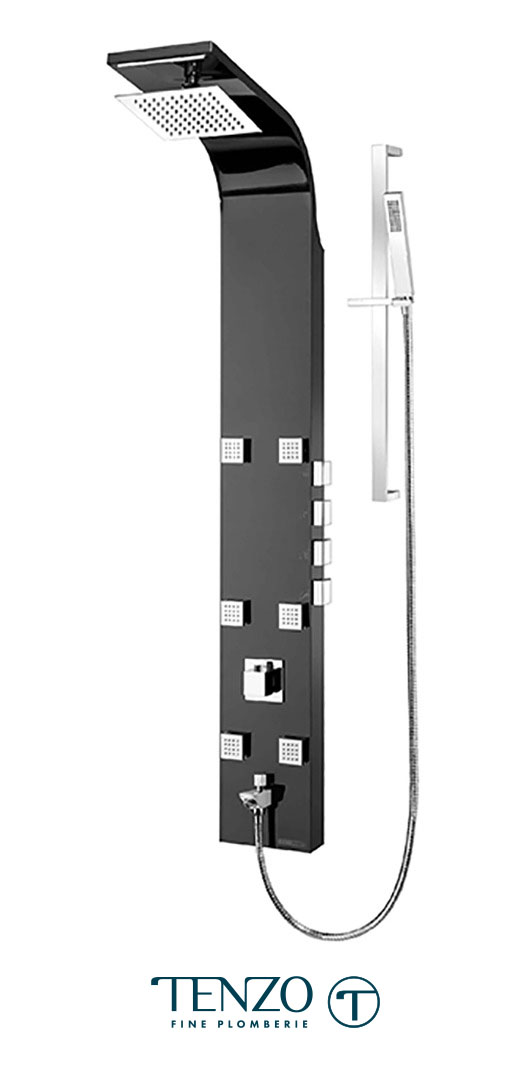 TZST-06.1-MB - Shower columns - Stainless Steel, 4 functions