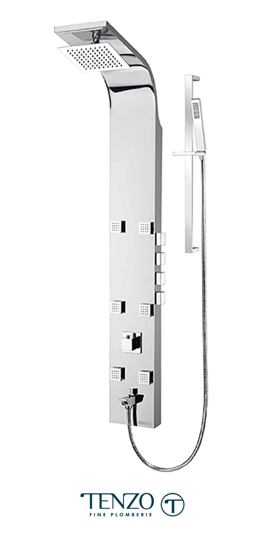 TZSTC-06.1 - Shower columns - Stainless Steel, 4 functions