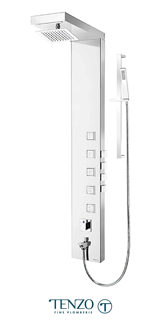 TZSTC-08.1 - Shower columns - Stainless Steel, 4 functions