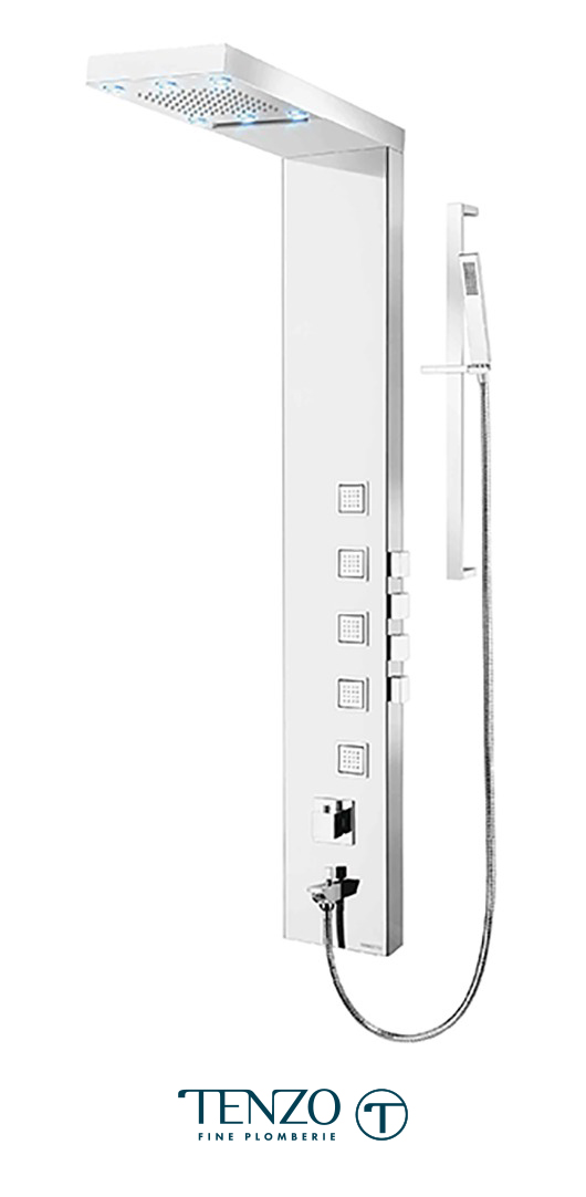 TZSTC-08.1L - Shower columns - Stainless Steel, 4 functions