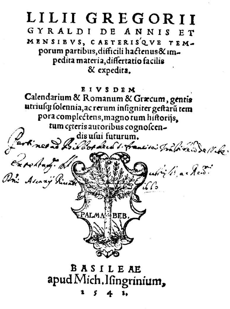 Giglio Gregorio Giraldi