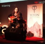 Craig Green performing on his Teton Classical Guitar at TEDx Idaho Falls