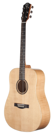 STS130FMCENT Spruce and Flame Maple Dreadnought Acoustic Guitar