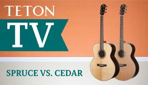 Spruce vs. Cedar Teton Acoustic Guitar Demo