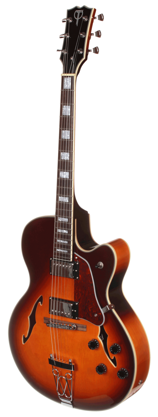TEF50VS Teton Electric Hollow Body Guitar