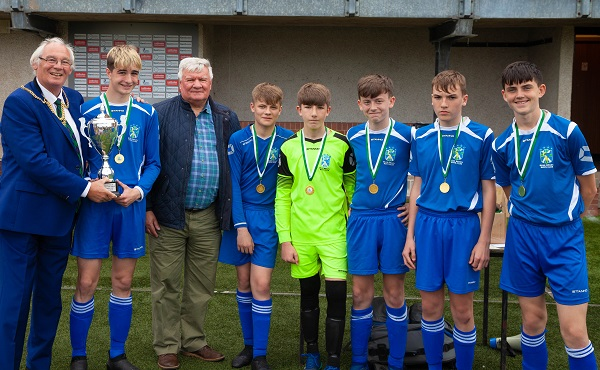 Youngsters shine at football tournament