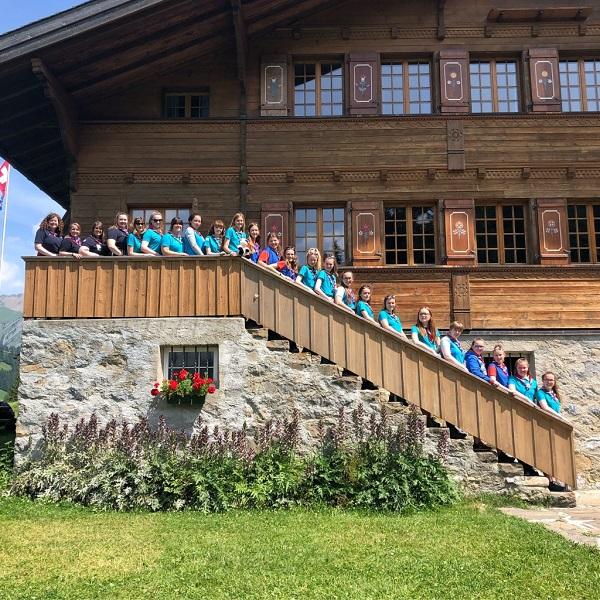 On a hike through Switzerland