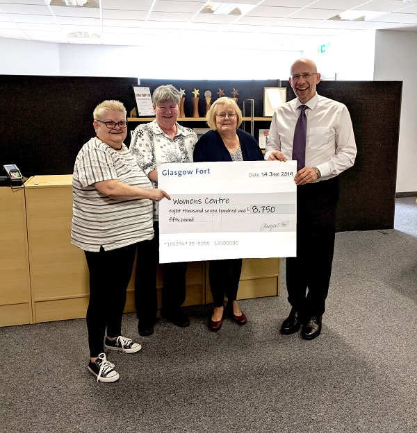 Shopping centre supports charity