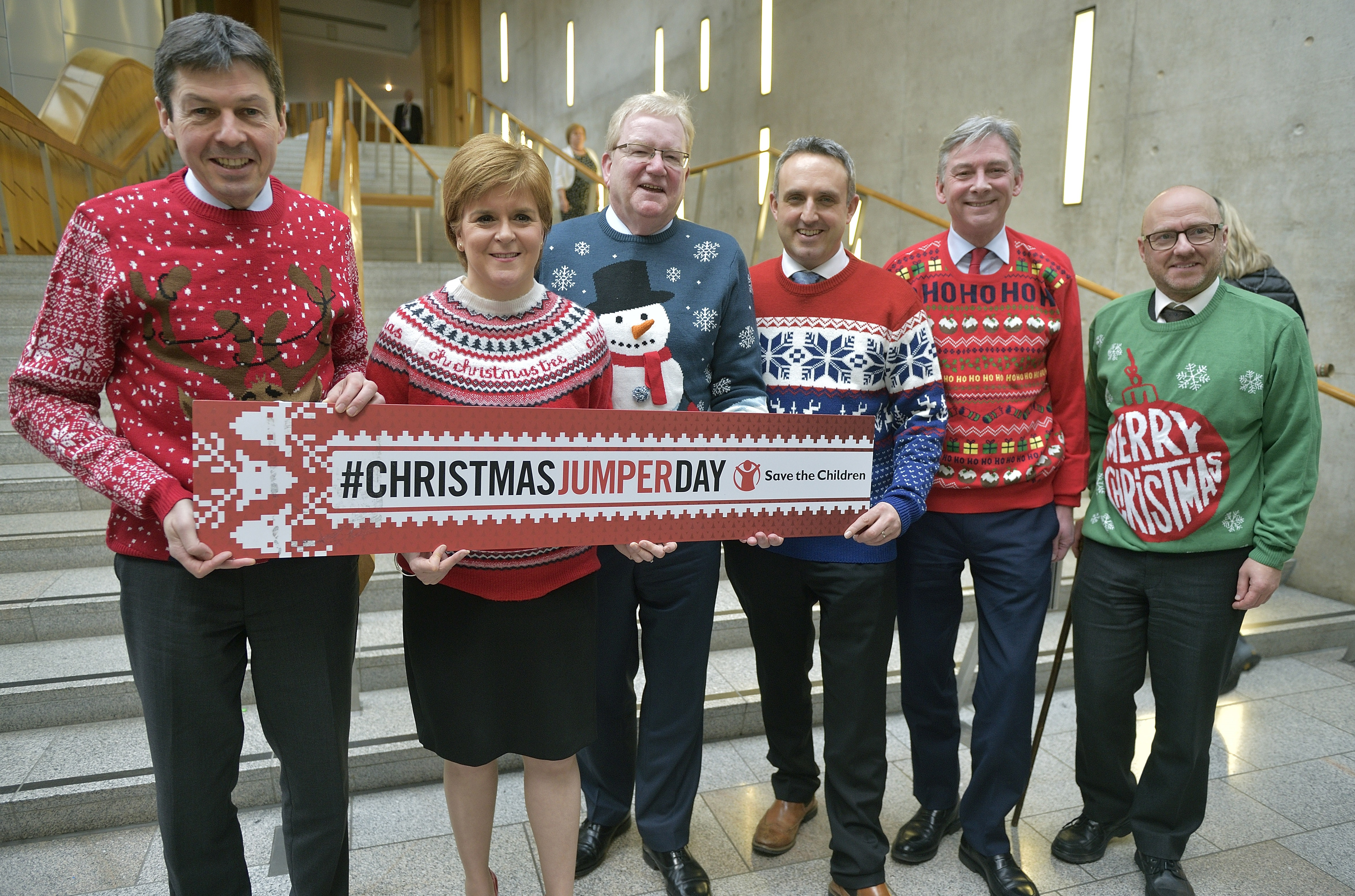 Party leaders back Christmas Jumper Day