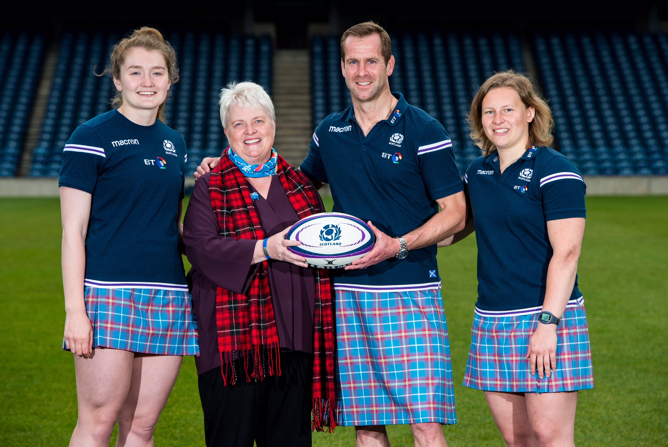 Scottish Rugby get in training for the Kiltwalk