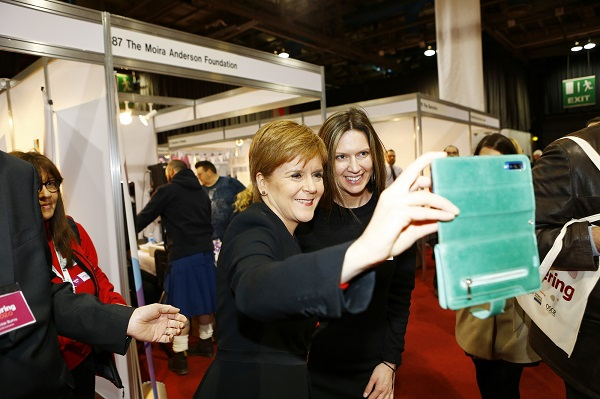 Nicola Sturgeon stops for a selfie