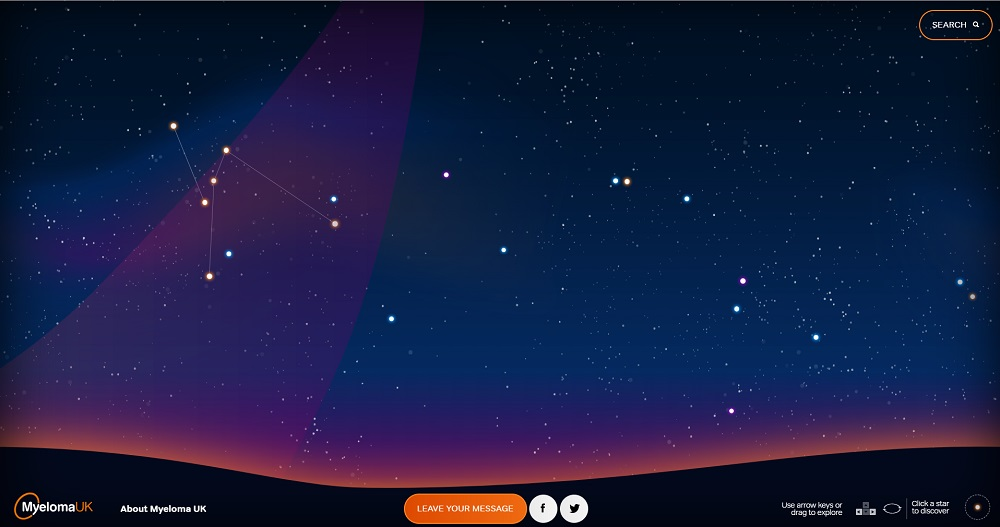 Charity supporters help to light up virtual sky