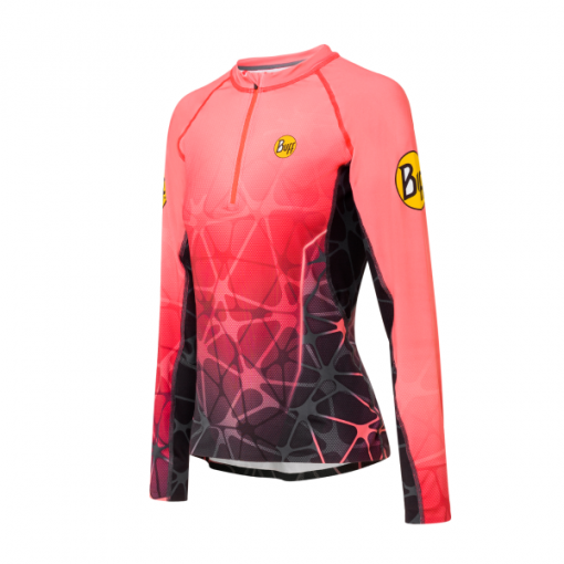 Pro-Team-Ina-Long-Sleeve-T-Shirt-Coral-600×600