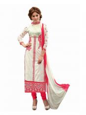 White Color Womens Salwar Materials Image