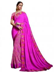 Rose Color Traditional Casual Wear Saree