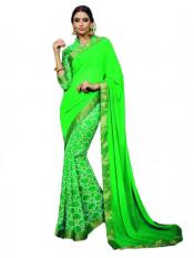 Light Green Color Traditional Saree
