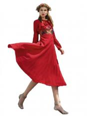 Red Color Designer Faux Georgette Kurti
