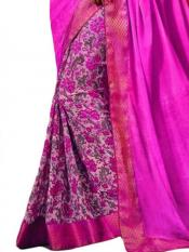 Shoking Pink Color Traditional Saree