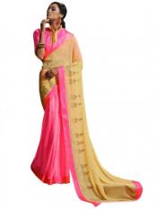Pink Color Designer Georgette Saree