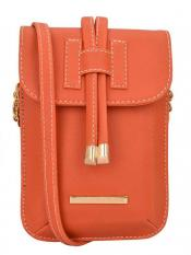 Lapis O Lupo Mush Women Mobile Synthetic Sling Bag - Orange