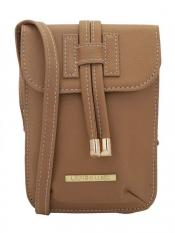 Lapis O Lupo Sultry Soot Women Synthetic Sling Bag - Beige