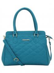 Lapis O Lupo Synthetic Quilt Women Handbag -Turquoise