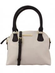 Lapis O Lupo Ivory Women Neno Synthetic Handbag - Off white