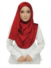 Stole for Women - Cotton Plain Stole - Red