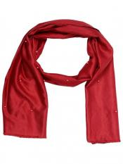 Stole for Women - Cotton Plain Stole - Maroon