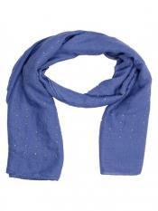 Stole for Women Cotton Diamond Stole Blue