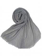Stole for Women Crinkled Cotton Mesh Sparkling Women's Stole Grey