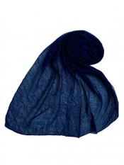 Stole for Women Premium Crush Diamond Stole Blue