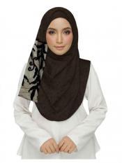 Stole for Women Premium Designer Leaf Cotton Stole Brown