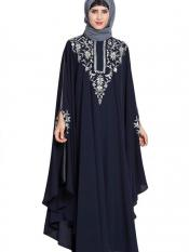 Mushkiya Nidamatte Irani Kfthan Fashionable Abaya With Embroidery Image